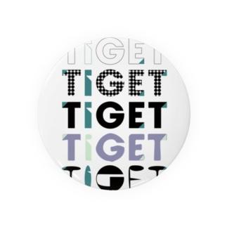 TIGET 6周年記念グッズ ロゴ ver. Badges