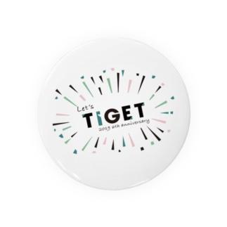 【数量限定】 TIGET 6周年記念グッズ アニバーサリー ver. Badges