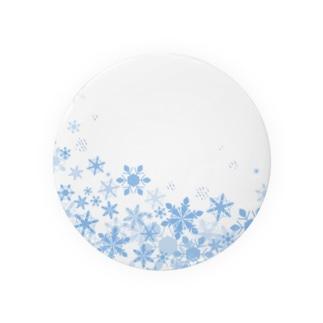 きらきら水彩のふわふわ雪の結晶 Badges