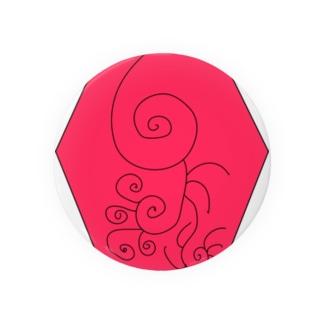 JUSEN SETA 【瀬田純仙】COOL JAPAN  冬の昼寝 Badges