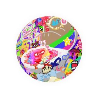 原宿系 便器×もぐら Badges