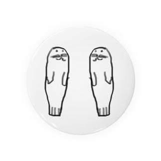 あざらし2匹 Badges