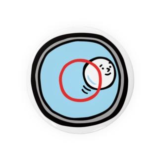 キャラNo.53水準器の中の気泡くん  缶バッジ
