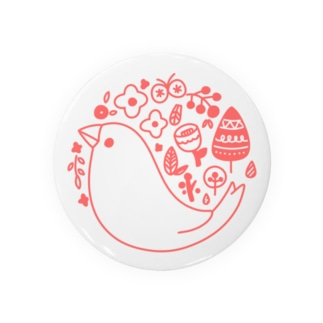 北欧風ロゴマーク文鳥 Badges