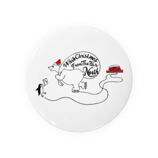 White Christmas From The Far North Badges