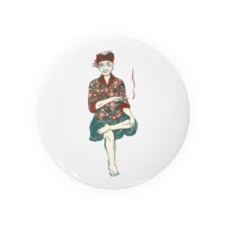 【バリの人々】おじいちゃん Badges