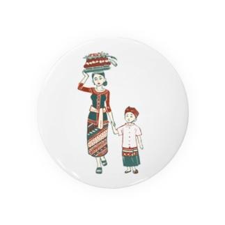 【バリの人々】お母さんと子供 Badges