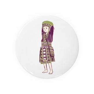 【タイの人々】モン族の女の子 Badges