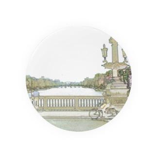 CG絵画:アムステルダムの運河 CG art: Canal in Amsterdam Badges