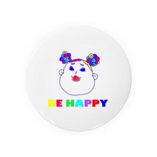 BE HAPPYギャルてやん 無地シリーズ Badges
