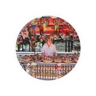 CG絵画:土産物店 CG art: Souvenier shop Badges