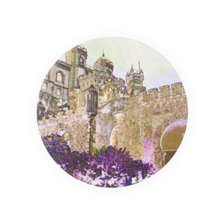 FUCHSGOLDのCG絵画:ぺーナ宮殿の風景画 CG art: Palácio Nacional da Pena / Portugal Badges