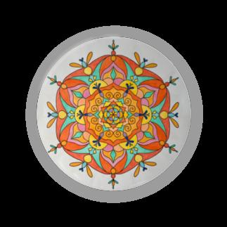 saiko-ruiのマンダラORANGE Badges