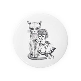 猫と少女 Badges