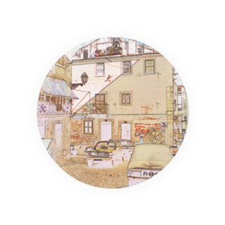 FUCHSGOLDのCG絵画:アルファマの風景画 CG art: Alfama / Lisboa (Lisbon) Badges