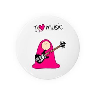 I LOVE MUSIC - アイラヴミュージック エレクトリックベースVer.  Badges