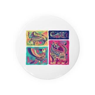 メキシコのアレブリヘス(ピンク) Badges
