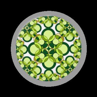 rioka24ki10のグリーン 丸 模様 Badges