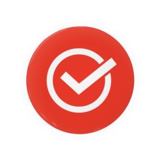 チェックマーク 赤×白 まる。 Badges