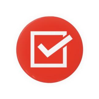 チェックマーク 赤×白 しかく。 Badges