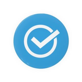チェックマーク 青×白 まる。 Badges
