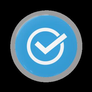 SANKAKU DESIGN STOREのチェックマーク 青×白 まる。 Badges