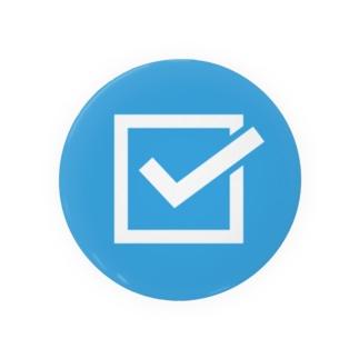チェックマーク 青×白 しかく。 Badges