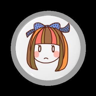 okazu092のおかっぱリボンの女の子 Badges