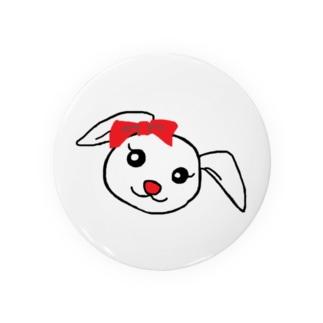 リボンのうさぎちゃん Badges