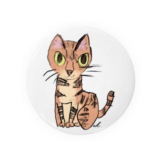 猫のクーちゃん(ワンポイント) Badges