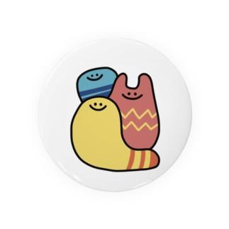 カラフルな謎の生き物3人 Badges