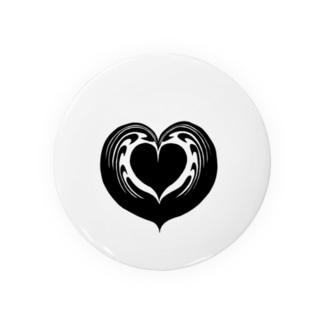 【ラテアート】ブラックハートインハート Badges