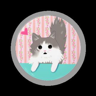 ha-teのごはんちょうだい、猫缶バッジ Badges