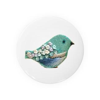 刺繍鳥の缶バッジ Badges