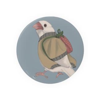イチゴ兄弟の文鳥(白文鳥) Badges