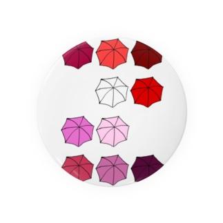 傘の花 あか Badges