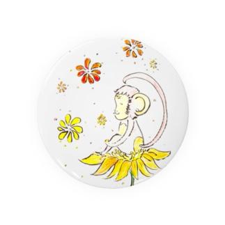 幸せのお花とさる Badges