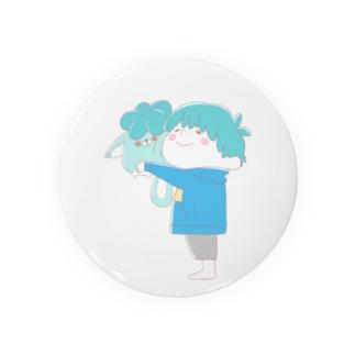 じんねこショップのじんねこぬいぐるみ 淡い色ver Badges