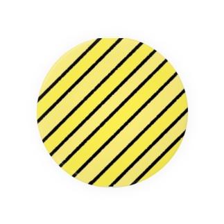 カスタードっぽいカラーストライプ Badges
