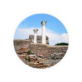 イタリア:オスティアの神殿遺跡 Italy: view of Ostia Badges
