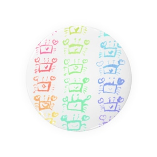 透過できなかった虹色のカニ Badges