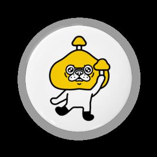 おかき雑貨店のキノコブヒ(黄) Badges