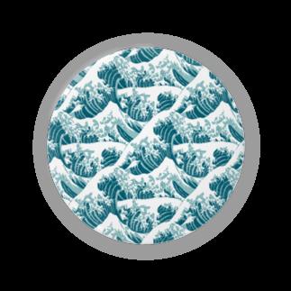 SANKAKU DESIGN STOREの富嶽三十六景の波がいっぱい。 Badges