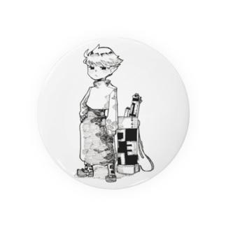 傘の露天の絵描き Badges