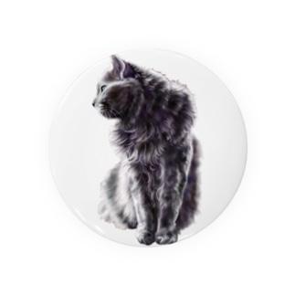 銀色の毛並みの猫 Badges