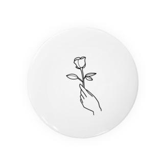 一輪のバラ(手書き風) Badges