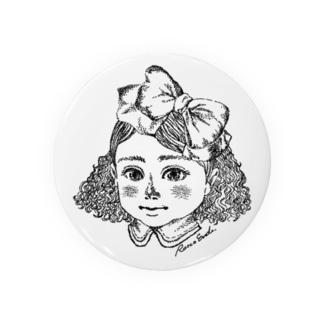 女の子(点描) Badges