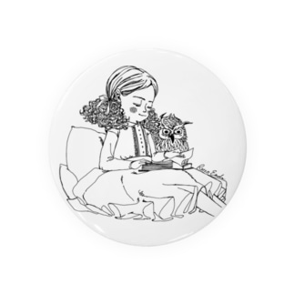 フクロウと女の子 Badges