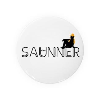 サウナで泣くOLのSAUNNER_ORANGE Badges