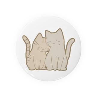 仲良し猫 キジトラ&灰 Badges